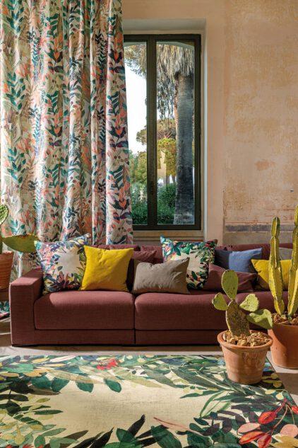 drukowany kwiatowy dywan ESTIVAL CALIENTE 8446 wizualizacja