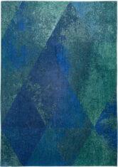 niebieski dywan geometryczny lisboa saphir blue 9052