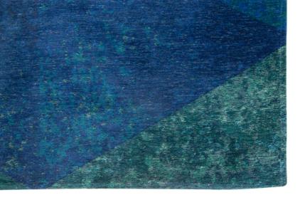 niebieski dywan geometryczny lisboa saphir blue 9052 narożnik