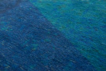 niebieski dywan geometryczny lisboa saphir blue 9052 romby