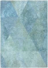 turkusowy dywan geometryczny Lisboa Jade Green 9053