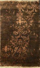 Brązowy ekskluzywny dywan 3D w Nowoczesnym Wzorze – DAMASK AL-2E F-19/B-5 - widok z góry