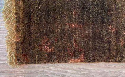 Brązowy ekskluzywny dywan 3D w Nowoczesnym Wzorze – DAMASK AL-2E F-19/B-5 - narożnik