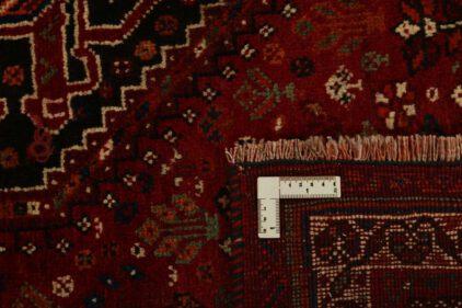 Czerwony Dywan Perski - KASHGHAI 1346865 - zawinięty róg