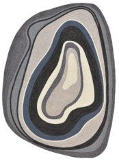 Kolorowy Nowoczesny Dywan w Paski - LA VIDA 476801 - widok z góry