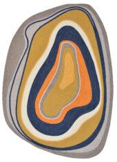 Kolorowy Nowoczesny Dywan o Nieregularnym Kształcie - AURA 477306 - widok z góry