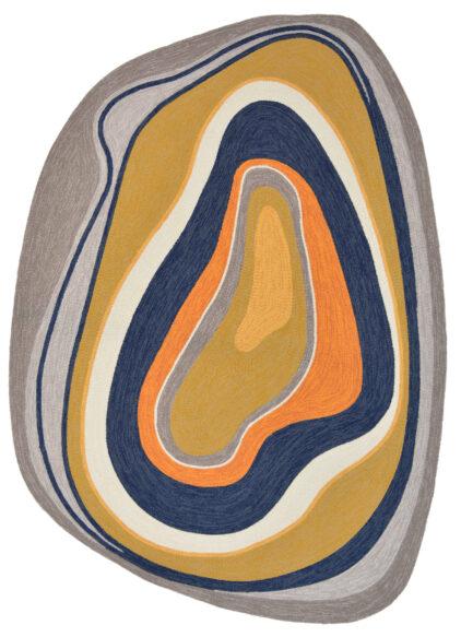 Kolorowy Nowoczesny Dywan o  Nieregularnym Kształcie - AURA 477306