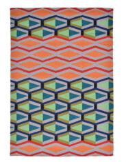 Kolorowy Nowoczesny Dywan w Geometryczny Wzór - CRUZ 411803 - widok z góry