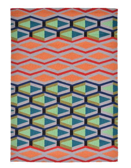 Kolorowy Nowoczesny Dywan w Geometryczny Wzór - CRUZ 411803