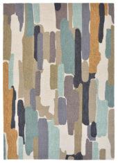 Kolorowy Nowoczesny Dywan w Abstrakcyjny Wzór - TRATTINO SEA GLASS 444804 - widok z góry