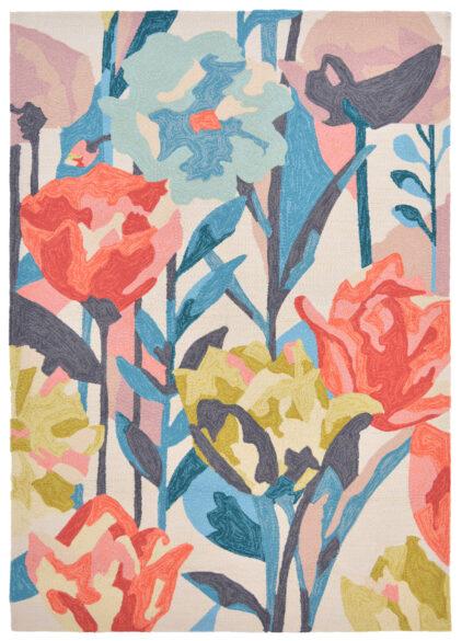 Kolorowy Nowoczesny Dywan w Kwiaty - VERDACCIO 442802