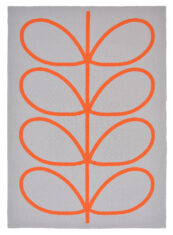 Szary Dywan w Liście - Giant Linear Stem Persimmon 46703 - widok z góry
