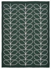Zielony Dywan w Liście - LINEAR STEM 460507 - widok z góry