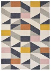 Nowoczesny Dywan w Kolorowy Geometryczny Wzór - NUEVO 426102 - widok z góry