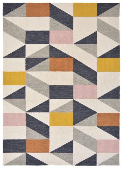 Nowoczesny Dywan w Kolorowy Geometryczny Wzór - NUEVO 426102