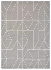 Beżowy Nowoczesny Dywan w Geometryczny Wzór - VISO STEEL 424004