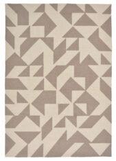 Beżowo-Brązowy Nowoczesny Dywan w Geometryczny Wzór - YERBA 411601 - widok z góry