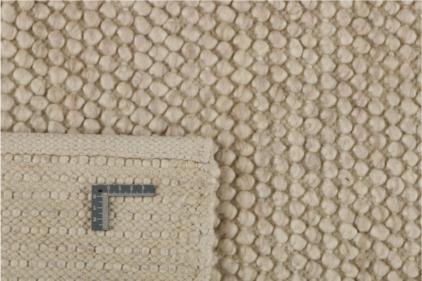 Beżowy Dywan Pleciony - BUBBLES BEIGE R-1902 - zawinięty róg
