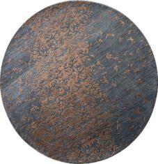 Szary ekskluzywny dywan 3D – DAMASK ROUND AL-2E HB-6/HB-19 - widok z góry