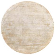 Okrągły beżowy dywan gładki- NORTHERN LIGHT SAND ROUND 7024 - widok z góry