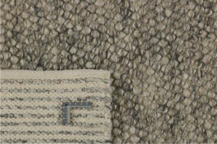Szary Dywan Pleciony - BUBBLES ANTRACITE R-1910 - zawinięty róg