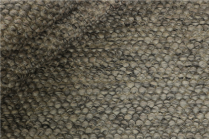 Szary Dywan Pleciony - BUBBLES ANTRACITE R-1910 - struktura