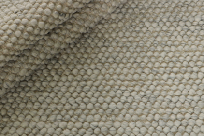 Szary Dywan Pleciony - Bubbles Grey R-1908 - struktura