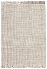Szary Dywan Wełniany z Frędzlami - NORDIC FLAIR GREY/WHITE - widok z góry