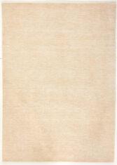 Beżowy Dywan Wełniany - PANORAMA UNI WHITE - widok z góry