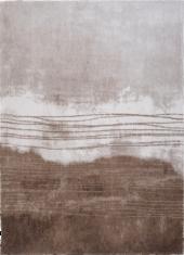 Brązowo biały dywan - FUJI BROWN 9153 - widok z góry
