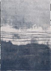 Niebiesko biały dywan - FUJI BLUE 9155 - widok z góry