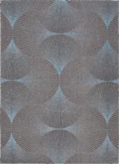 Niebiesko czarny dywan - KIMONO BLUE 9160 - widok z góry