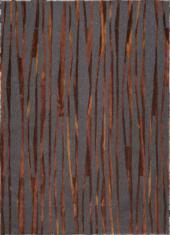 Nowoczesny brązowo czarny dywan ze wzorem bambusa - BAMBOO 9164 - widok z góry