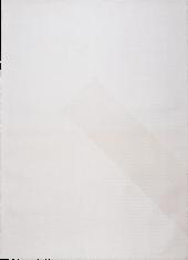 Nowoczesny biały dywan ze wzorem suchego japońskiego ogrodu - NIHON 9167 - widok z góry