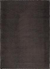 Czarny dywan geometryczny - SAN ANDREAS BLACK GOLD 9169 - widok z góry