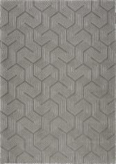 Beżowo szary dywan ze wzorem laniryntu - LABIRYNT 9175 - widok z góry