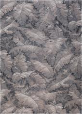 Nowoczesny beżowo szary dywan w liście - MANAUS 9178 - widok z góry