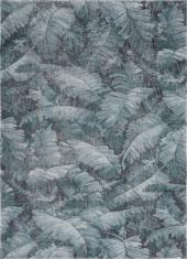 Szaro niebieski dywan w liście - MANAUS 9179 - widok z góry