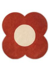 Dywan Czerwony Kwiatek - FLOWER TOMATO 061303 widok z góry