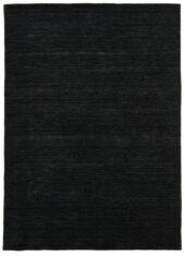 Czarny Dywan Wełniany - PANORAMA UNI BLACK - widok z góry