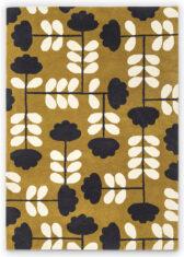 Żółty Dywan w Kwiaty - CUT STEM DIJON 060806 widok z góry